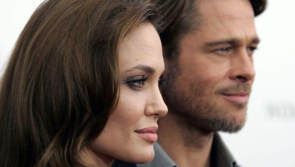 Es war einmal: Ex-Traumpaar Angelina Jolie and Brad Pitt (Archivbild)