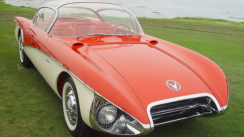 Glaskuppel, Raketennasen und ausladende Heckflügel - das Konzeptauto Buick Centurion von 1956 wirkte optisch eher wie ein Düsenjet als ein Automobil.