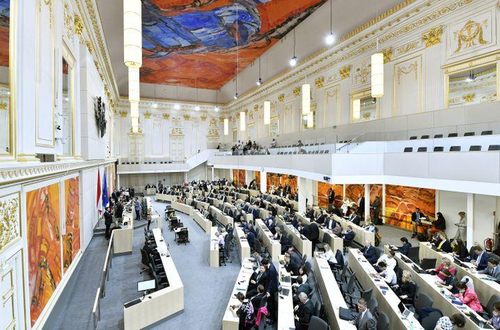 Nationalrat im Ausweichquartier in der Wiener Hofburg