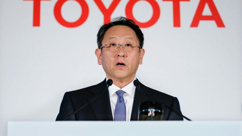 Toyota-Chef Toyoda: Trend zeigt eher nach unten