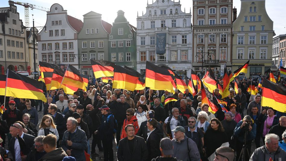 AfD-Anhänger in Rostock