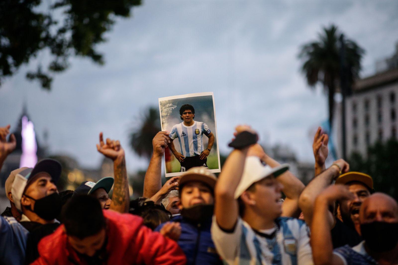 Maradona's funeral chapel at Casa Rosada in Buenos Aires, Argentina - 26 Nov 2020