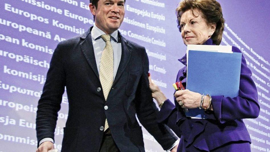 Politiker Guttenberg, Kroes: »Hochwertige Zugänge«