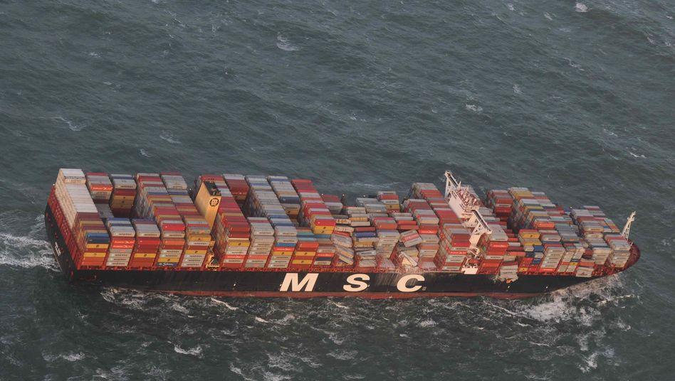 """""""MSC Zoe"""" nach Containerverlust in der Nordsee"""