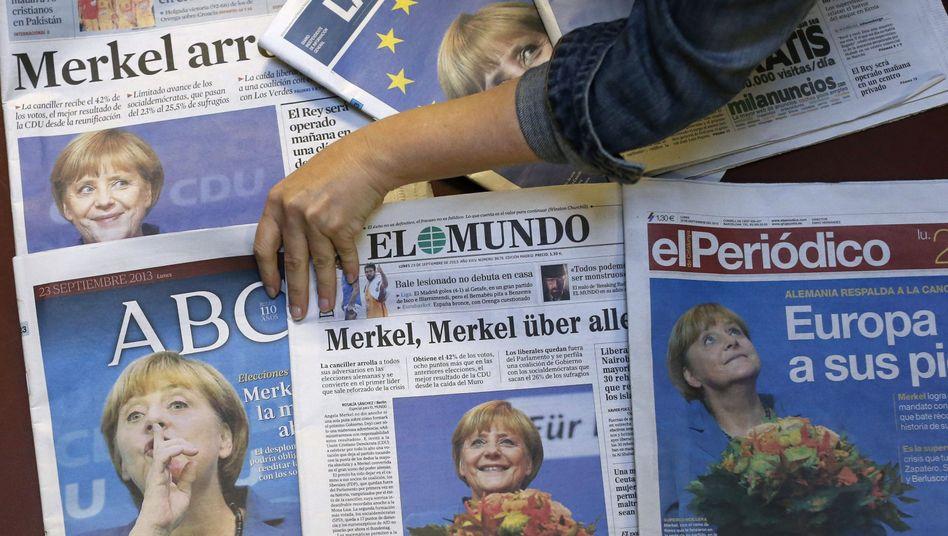 """Reaktionen aufMerkels Triumph: Europa fürchtet die """"eiserne Mutti"""""""