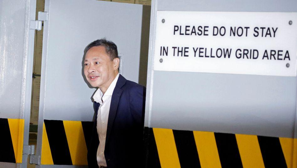 Auf Kaution draußen: Aktivist und Anführer der Regenschirmproteste, Benny Tai, verlässt ein Gerichtsgebäude in Hongkong