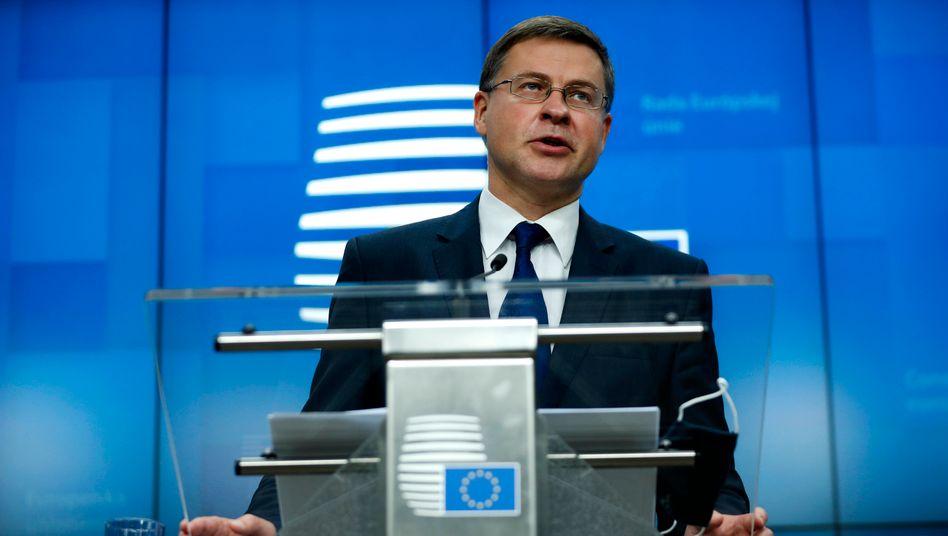 EU-Kommissions-Vize Dombrovskis: Ungünstiges Umfeld