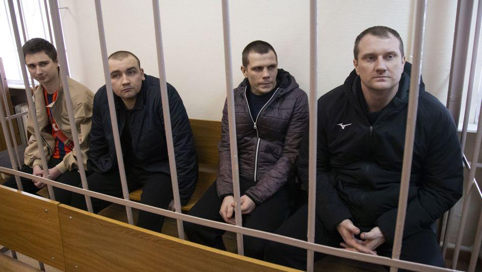 Gefangene Matrosen aus der Ukraine