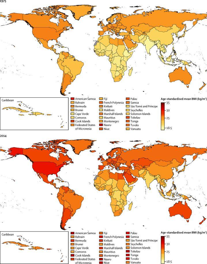 Natürliche Gewichtsveränderungen mit dem Alter rechneten die Forscher aus der Statistik heraus