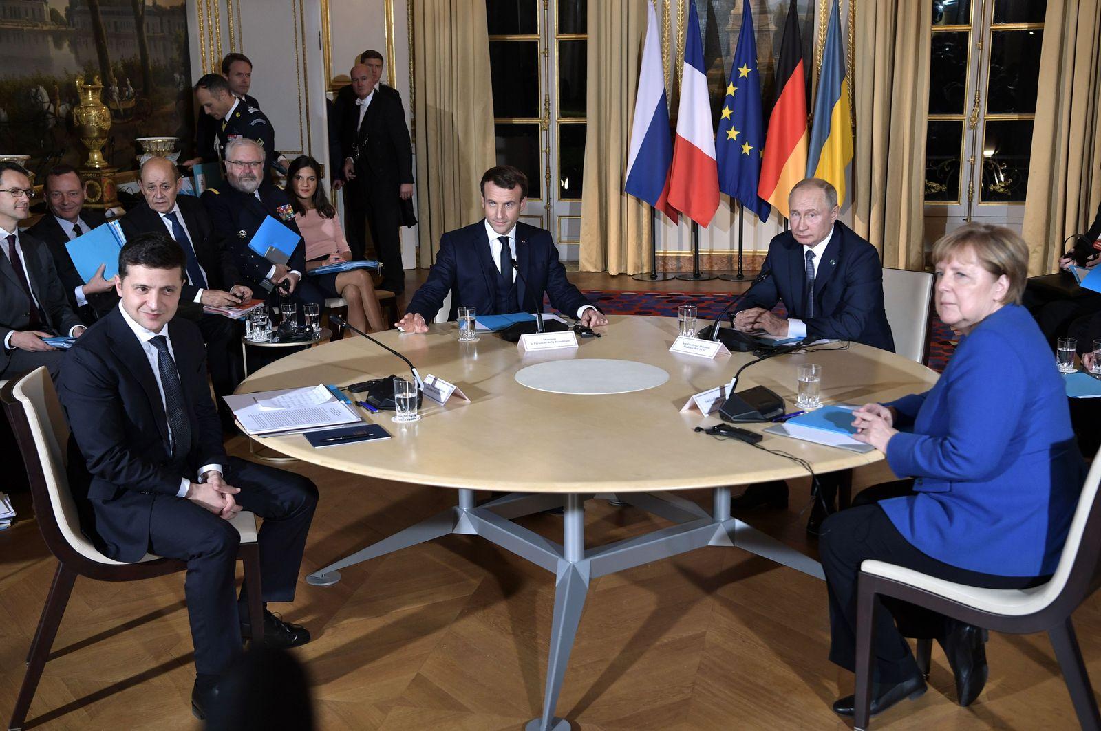 Ukrainegipfel, Wladimir Putin, Angela Merkel
