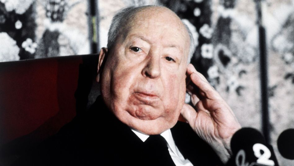 Hitchcock auf einem Archivbild von 1980: Drastische Bilder