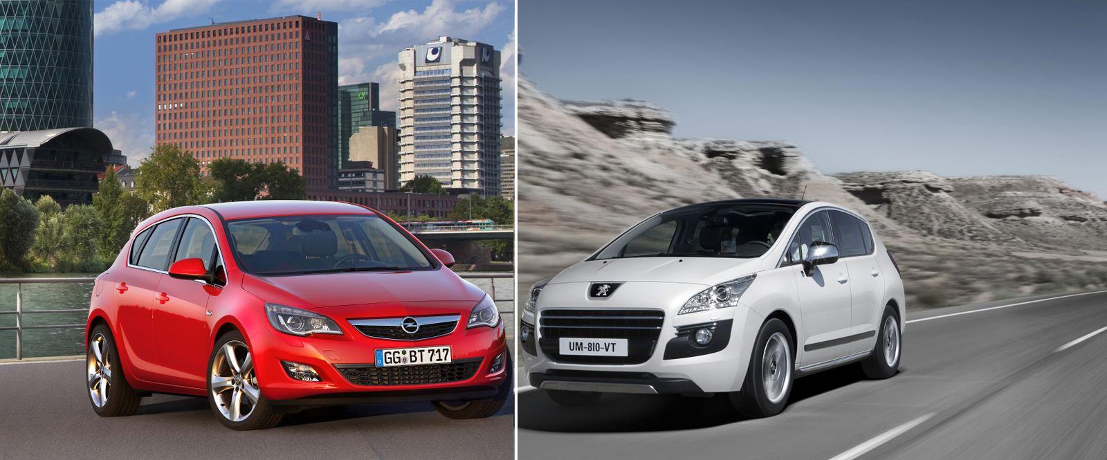 KOMBO Opel Astra / Peugeot 3008 HYbrid4