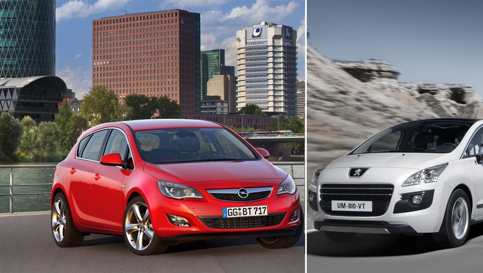 Opel Astra und Peugeot 3008 Hybrid4