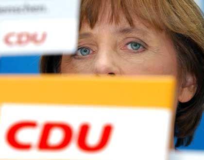 Merkel in der Parteizentrale: Wichtigstes Thema für die wichtigste Person