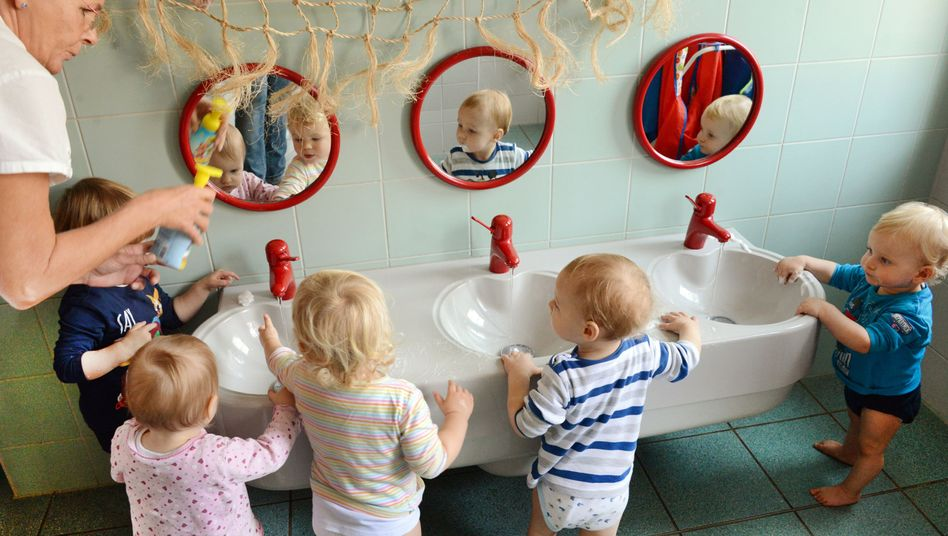 Kindertagesstätte in Halle (Archivbild): Aufwertung sozialer Berufe