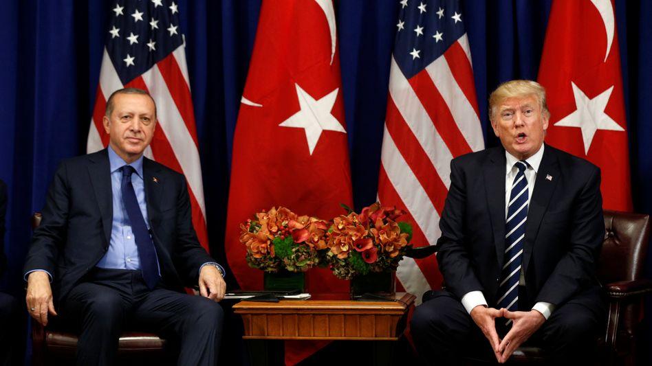 Recep Tayyip Erdogan und Donald Trump auf der Uno-Vollversammlung in New York