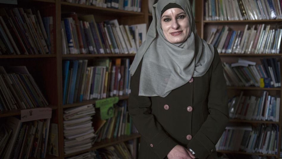 Reema Shamasneh in ihrem Büro in Ramallah