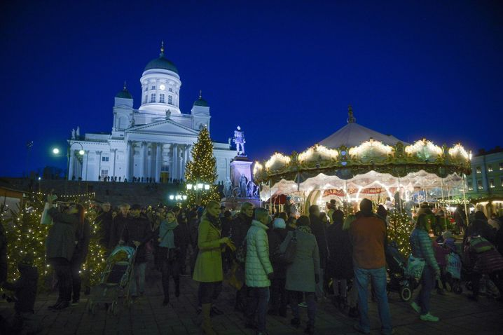 Weihnachtsmarkt in Helsinki