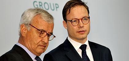 """Hypo-Real-Estate-Chef Wieandt (r.), Aufsichtsratschef Endres: """"Keine Basis für eine Fortführung der Gesellschaft"""""""