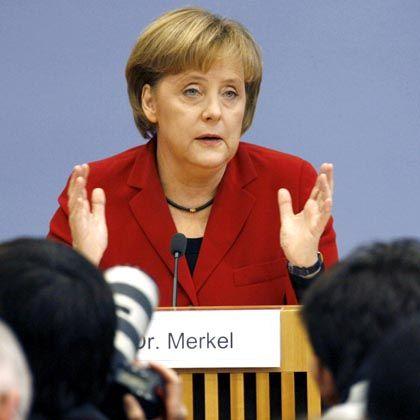 Kanzlerin Merkel: Beschwichtigende Worte in Koalitionskrisenzeiten