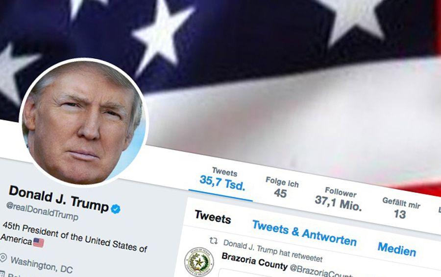 EINMALIGE VERWENDUNG Donald Trumps Twitteraccount