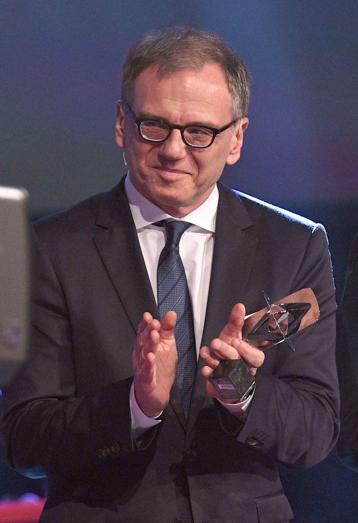 Wolf bei der Grimme-Preisverleihung 2018, wo er geehrt wurde
