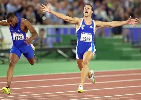 Konstantinos Kenteris bei seinem 200-Meter-Olympiasieg in Sydney