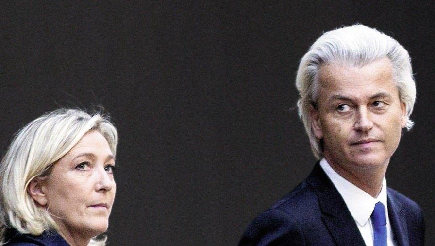 Gesinnungsgenossen Le Pen, Wilders : Flirt auf offener Bühne