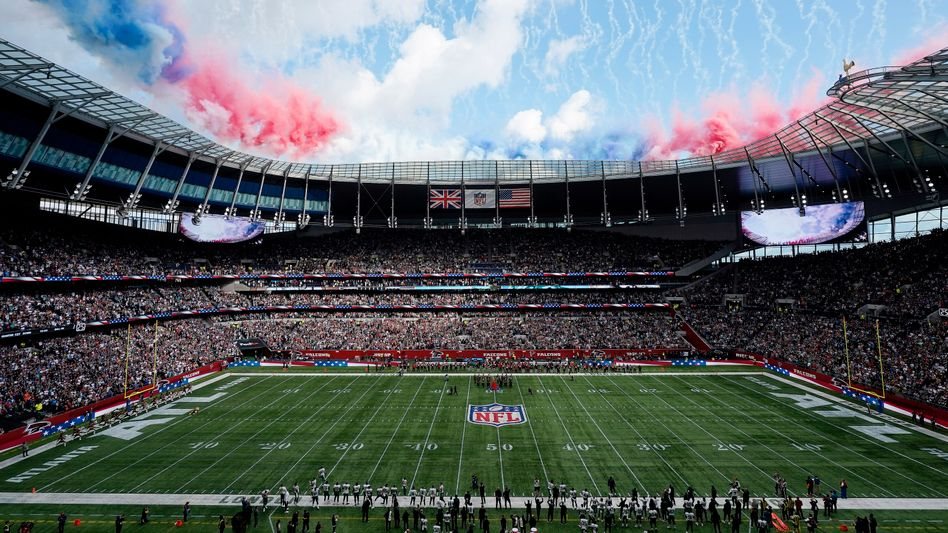 NFL-Spiel im Londoner Tottenham-Hotspur-Stadion zwischen New York Jets und Atlanta Falcons am vergangenen Sonntag