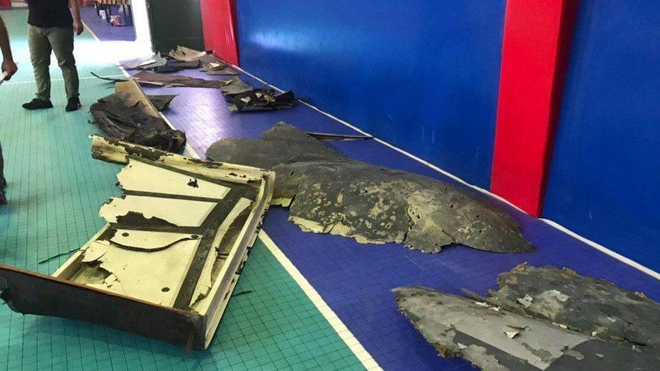 Angebliche Wrackteile einer abgeschossenen US-Drohne wurden im iranischen Fernsehen gezeigt
