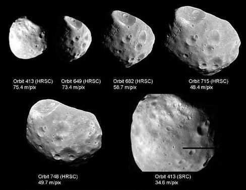 Phobos: In verschiedenen Orbits fotografiert