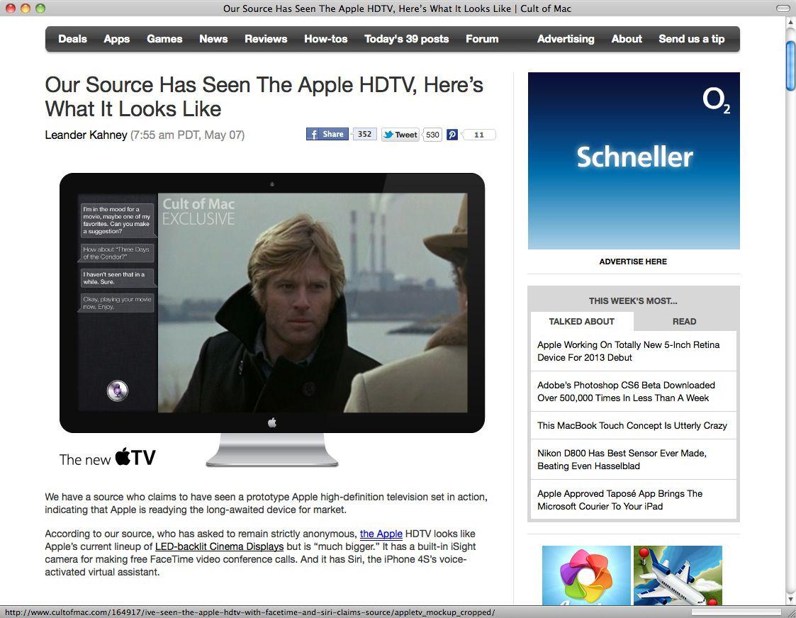 Screenshot Apple Fernseher
