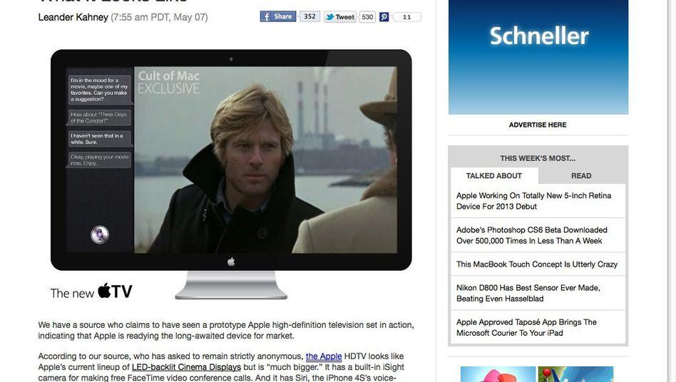 Apple-Fernseher (Computersimulation): Ein anonymer Tippgeber will ihn gesehen haben