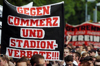 Fan-Proteste: Stadionverbote sollen künftig ausgesetzt werden können