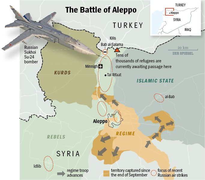 Map: The Battle of Aleppo