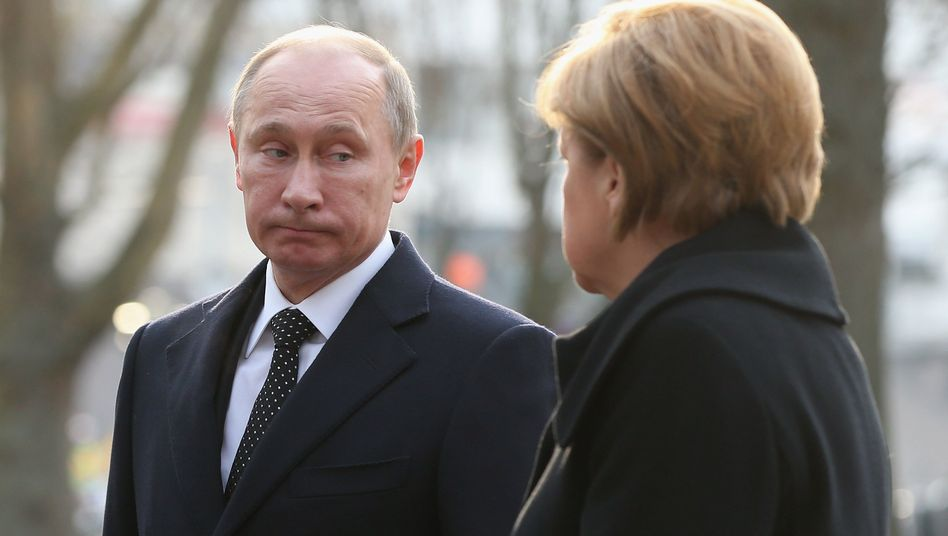 Putin visited Merkel in Germany last week, and things between the leaders were reportedly tense.