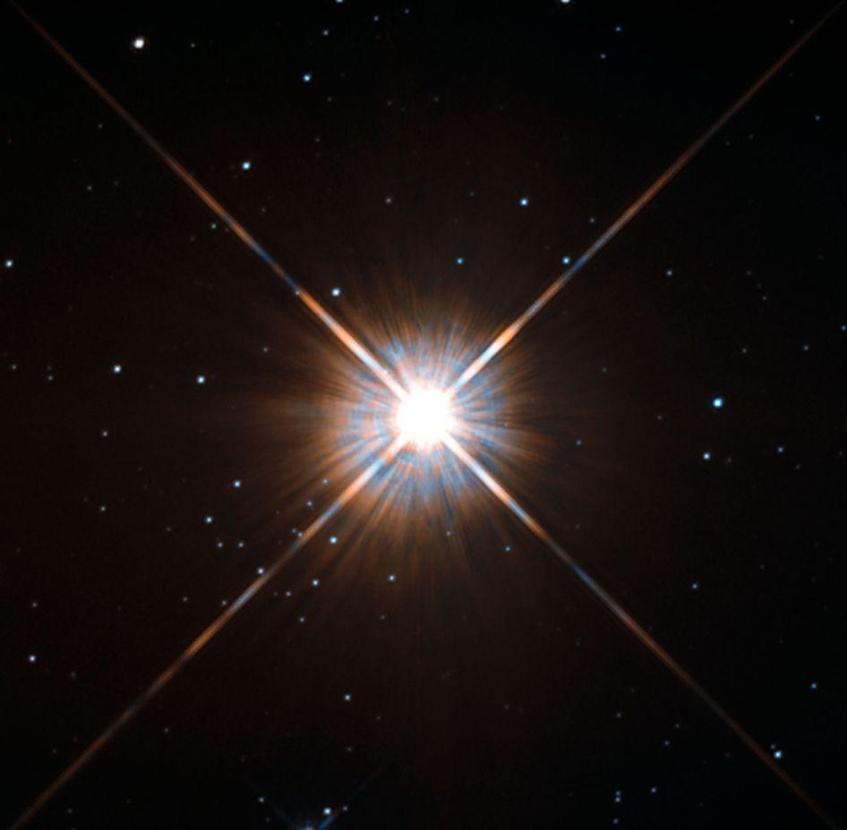 EINMALIGE VERWENDUNG Landkarte/ Proxima Centauri/ NASA