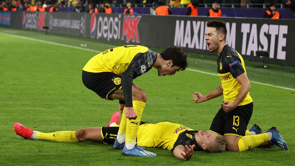 Dortmunder Jubel gegen Paris-Saint-Germain