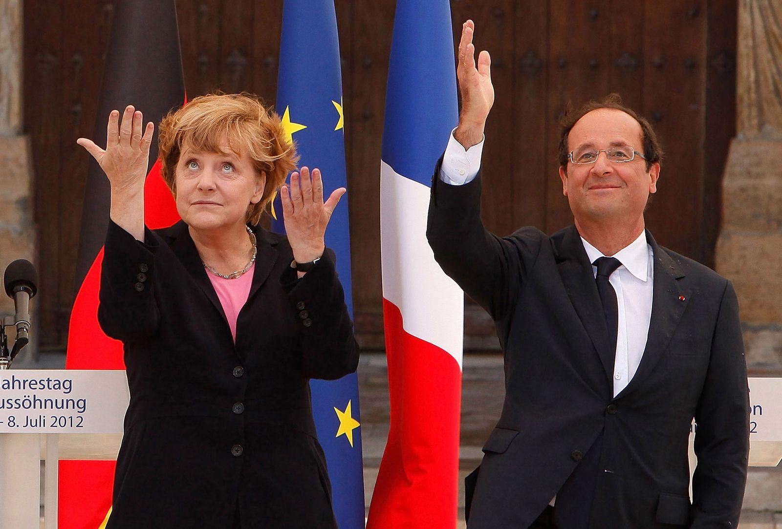 Merkel und Hollande in Reims