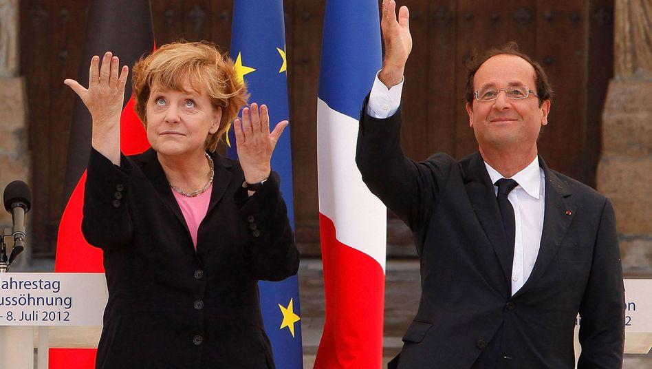 """Merkel und Hollande in Reims: """"Zeichen des vertrauensvollen Miteinanders"""""""