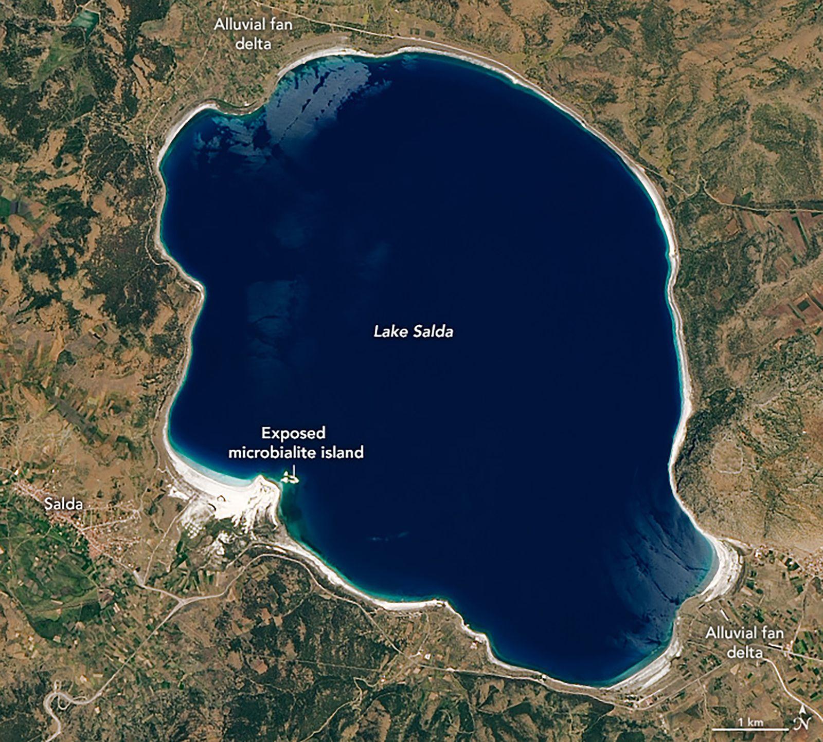 Lake Salda, Turkey, shares similar mineralogy as Jezero Crater on Mars