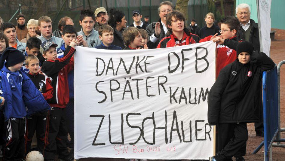 Protestierende Amateurclubs: Zuschauer bleiben weg