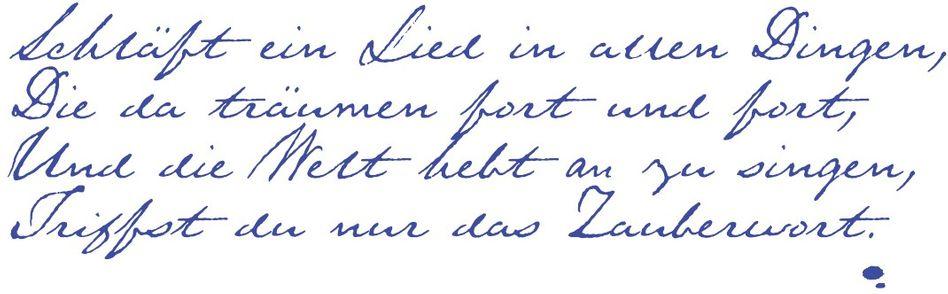 »Wünschelrute« Romantisch, düster und philosophisch zugleich: das kurze Gedicht, das Joseph von Eichendorff 1835 schrieb