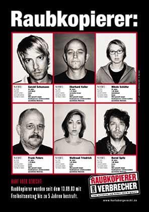 """Plakat: """"Raubkopierer sind Verbrecher"""""""