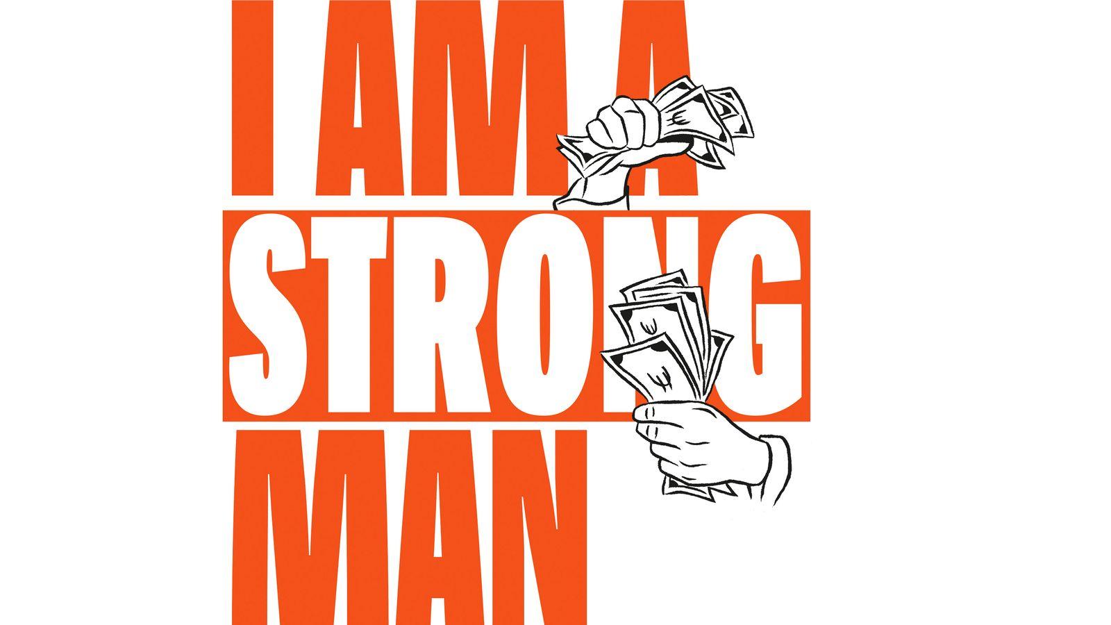 EINMALIGE VERWENDUNG DD/ Dirty Deals/ SPON/ Zitat/ Englisch/ Strong Man
