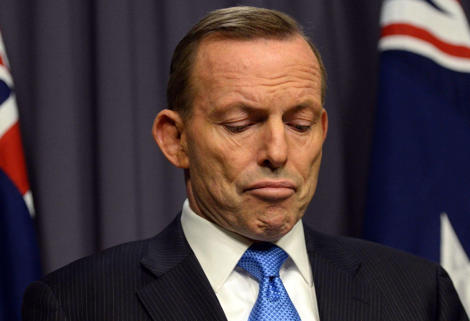 Australian PM tony Abbott reacts to challenge for patry leadership ann