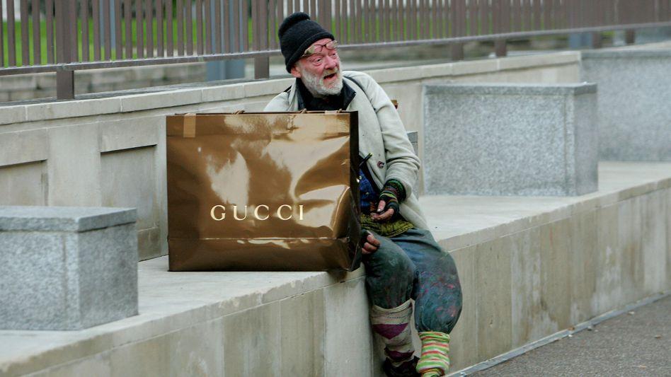 Obdachloser in London:Extreme ökonomische Ungleichheit