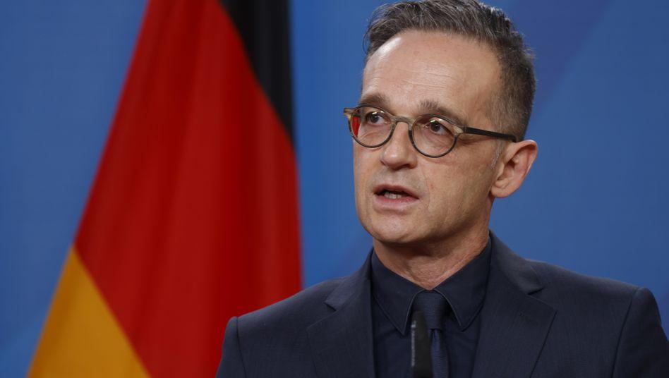 Außenminister Heiko Maas: Der Tweet mit dem Jubiläumsgruß wurde mittlerweile gelöscht