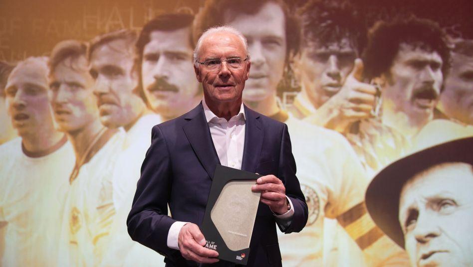 """Franz Beckenbauer bei einer Gala im April 2019: """"Die Möglichkeit einer Stimmabgabe für Russland"""""""