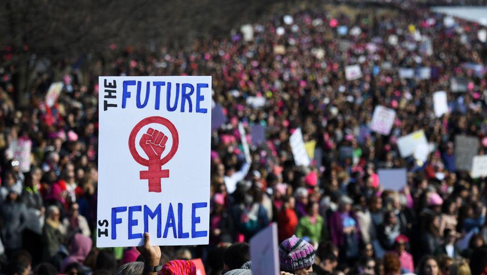Womens March 2018 in Washington (USA)